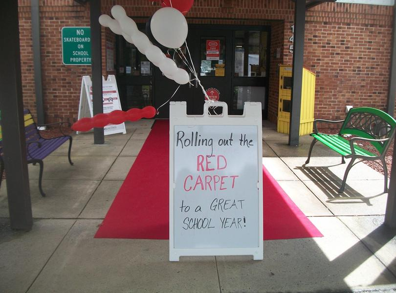 Rolling out the red carpet for a great school year!!