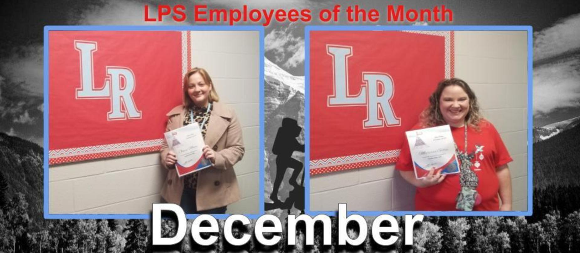 December Employees of the Month