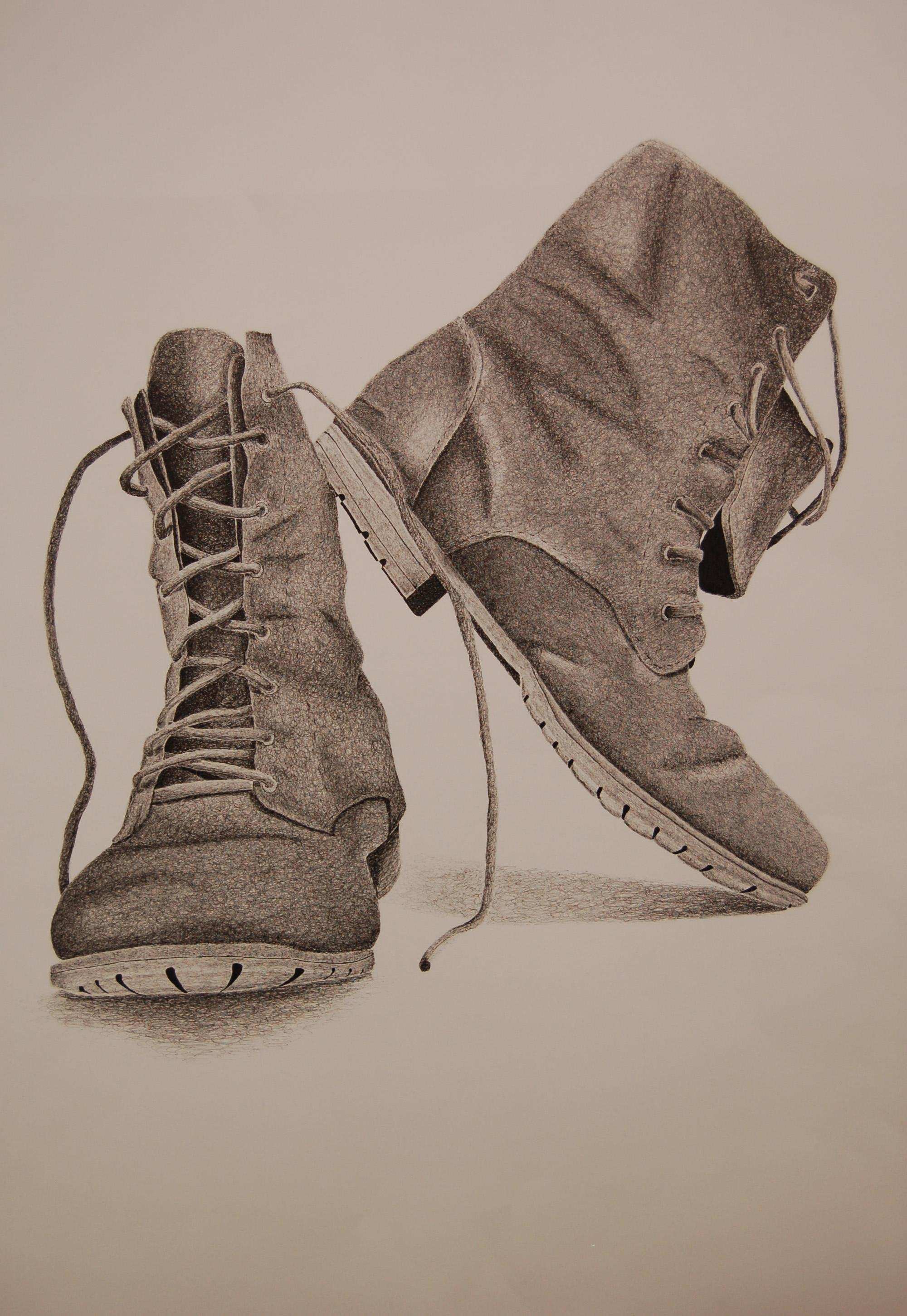 Detailed drawing of boots