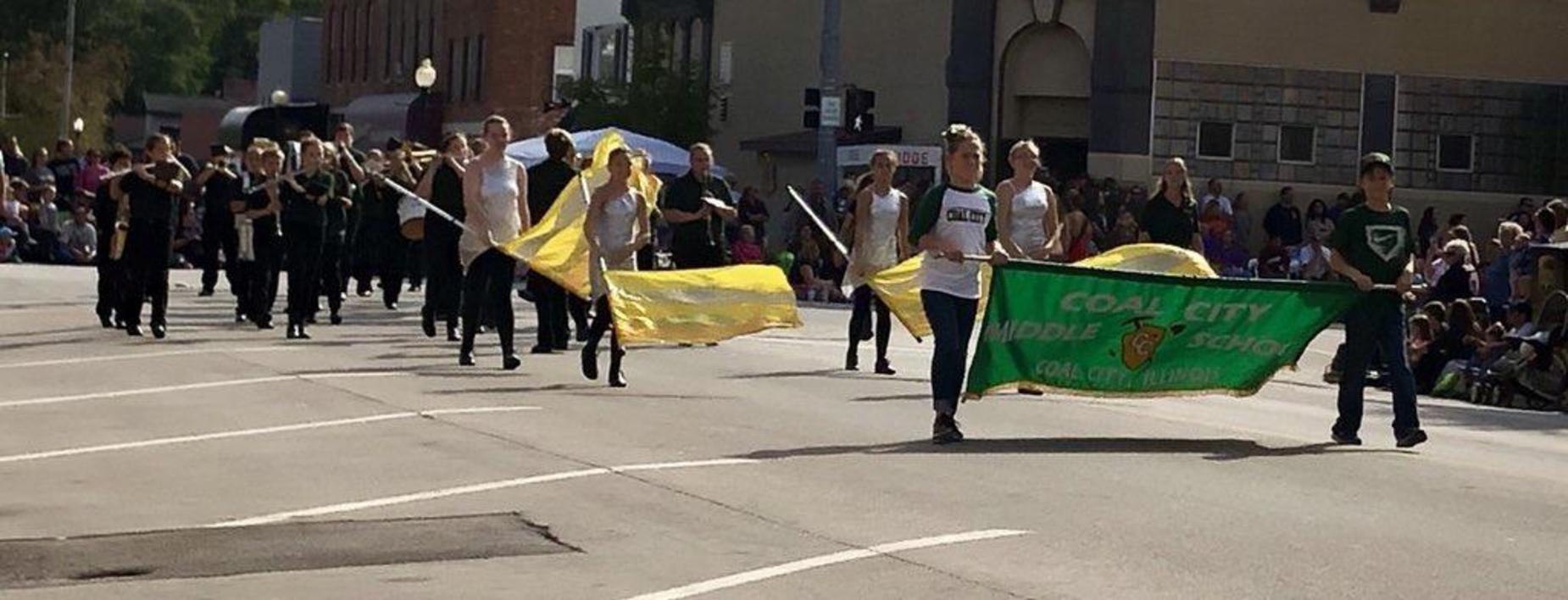 Cornfestival Parade CCMS Band