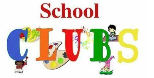 graphic of the word school clubs