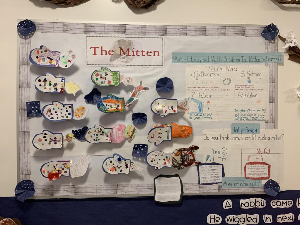 the mitten student created story map