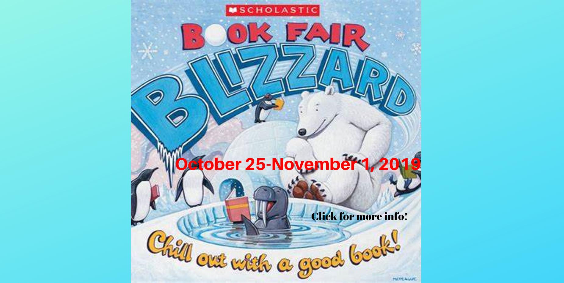 Book Fair Oct 25- Nov. 1st