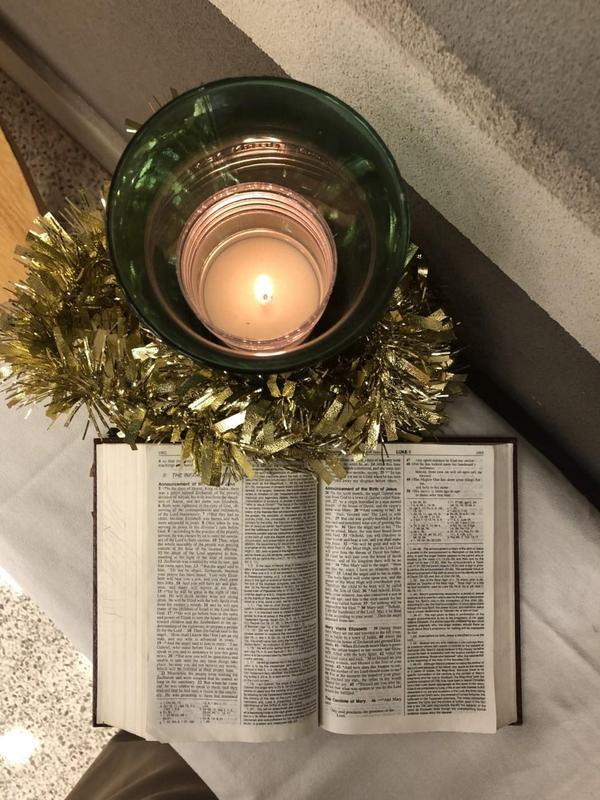 candle, bible
