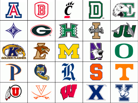 Image of USA College Logos