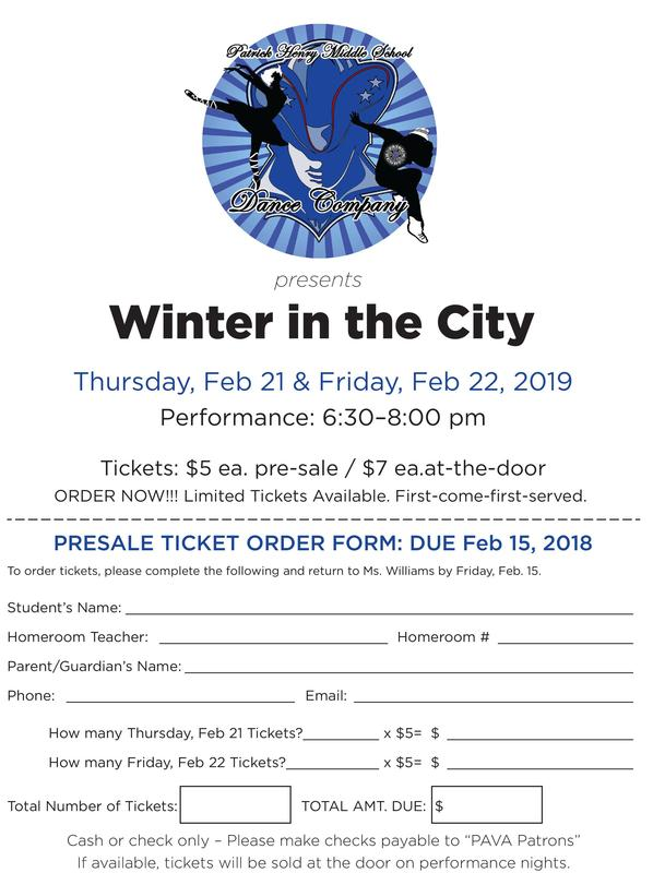 Dance Company Winter Program on February 21 and 22 at 6:30pm Featured Photo
