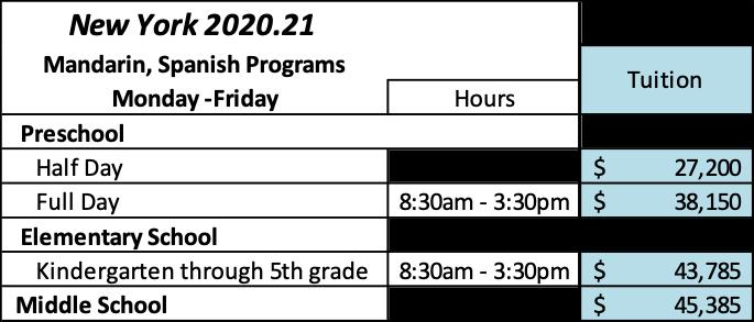 NY tuition 20-21