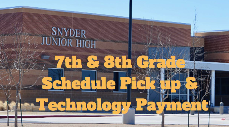 7th & 8th Grade Schedule Pick-Up and Technology Payment(only) Featured Photo