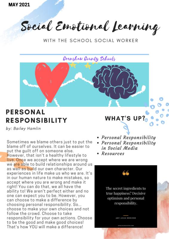Monthly newsletter - Mental Health