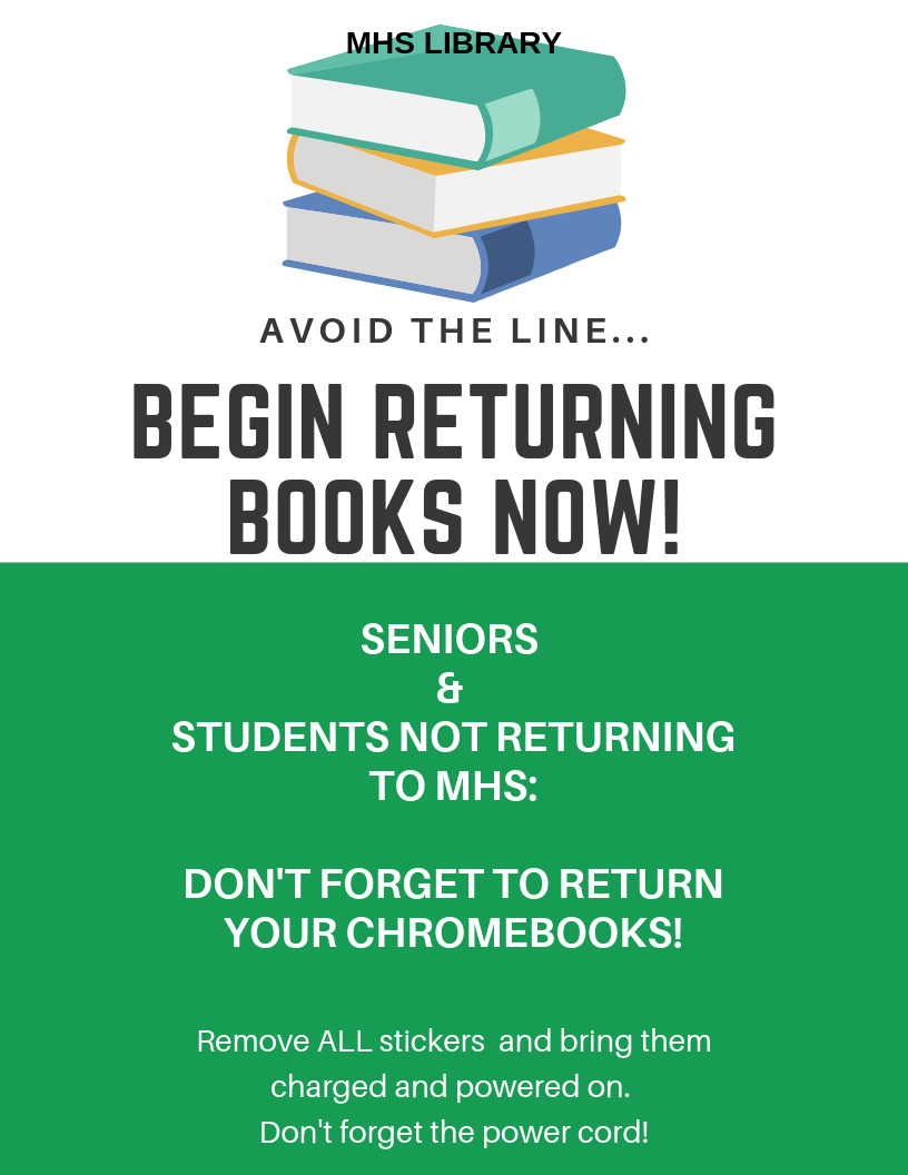Library Book Return Flyer
