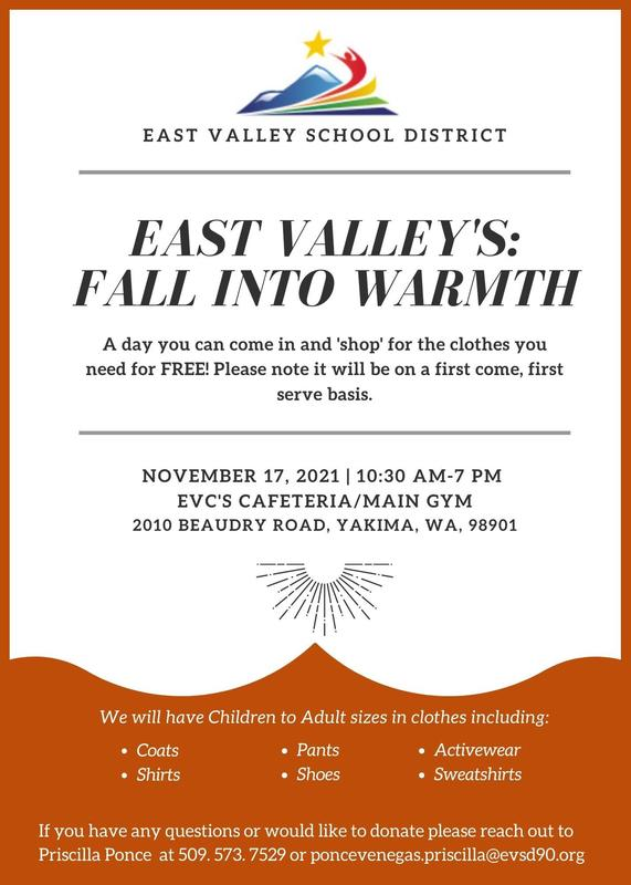 Fall into Warmth event at EVC FREE/Gently used Clothing and Shoes