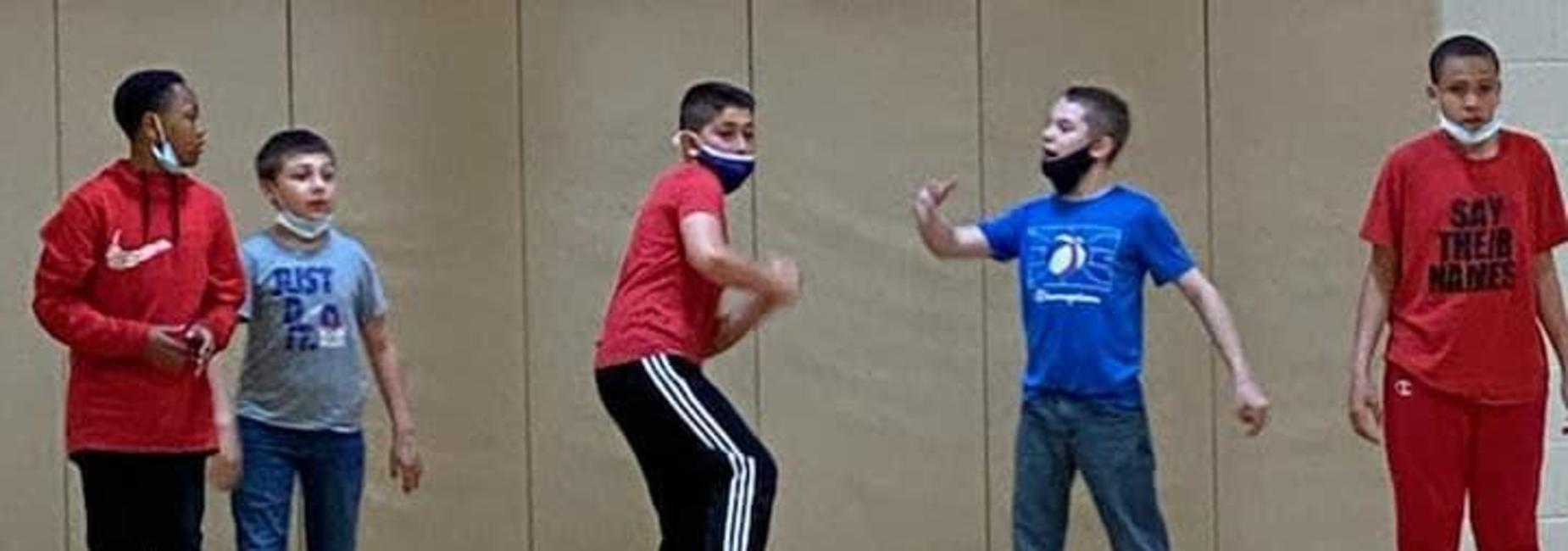 Test students playing Spider Ball