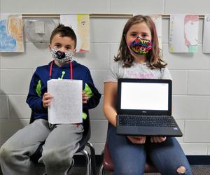 Page 4th graders gain inspiration for writing from award-winning author.