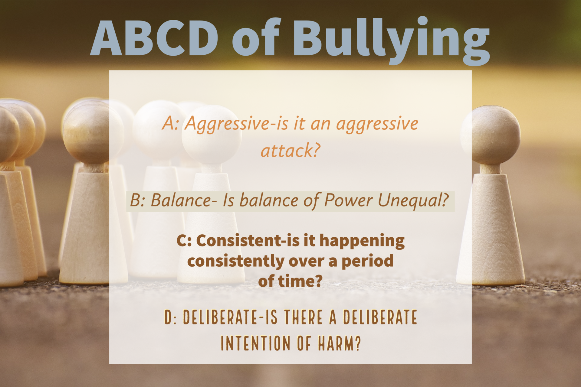 A B C Ds of bullying