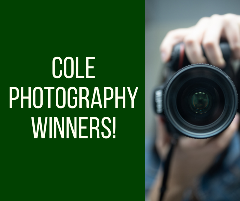 Cole Photo Winners graphic