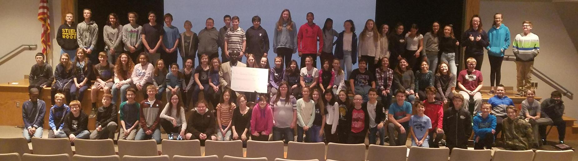 Gananda 7th Grade Students Raise Over $1,000 for Building Minds In South Sudan
