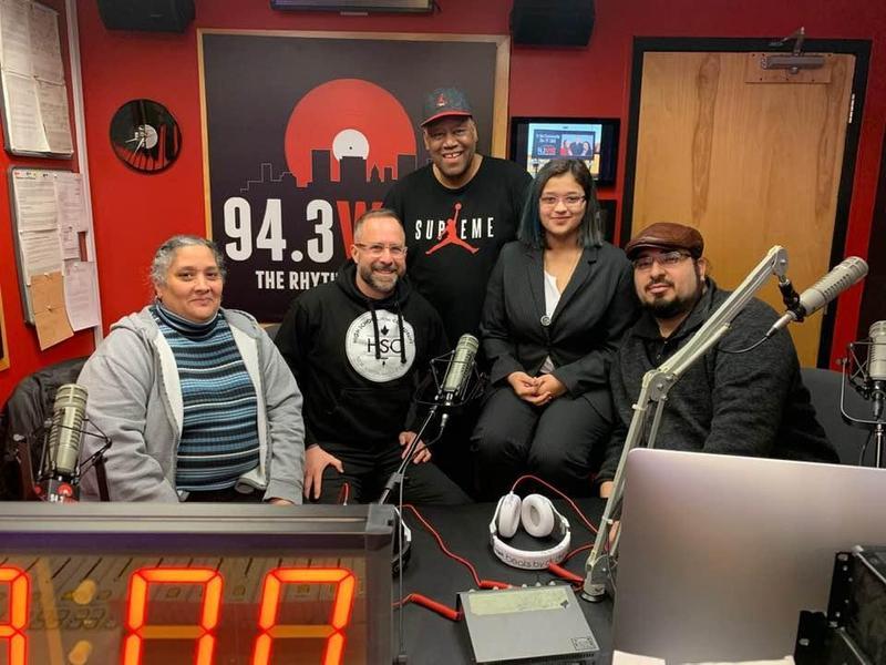 Diana, Matt, Lincy, and the WYBC morning radio hosts