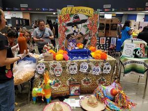 Table display of Hispanic items