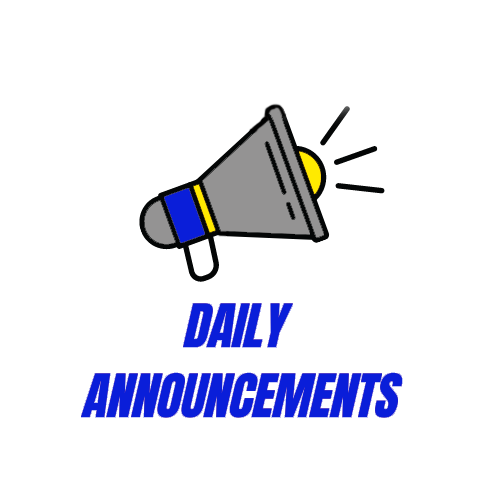 9/28/21 - Daily Announcements