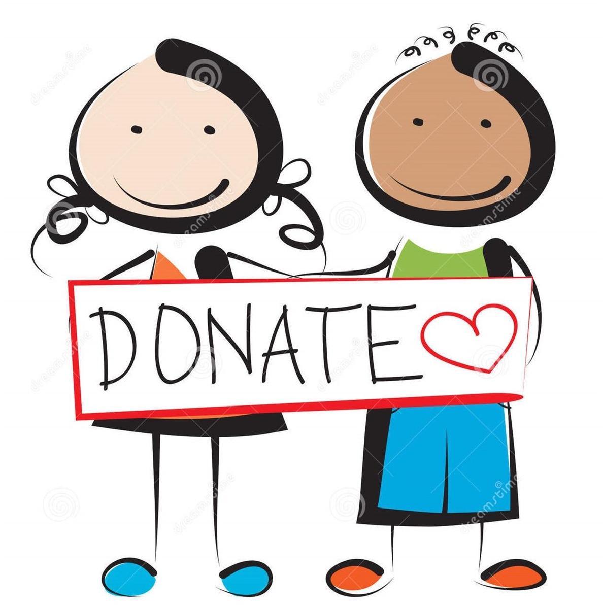 Clip Art donate children holding sign
