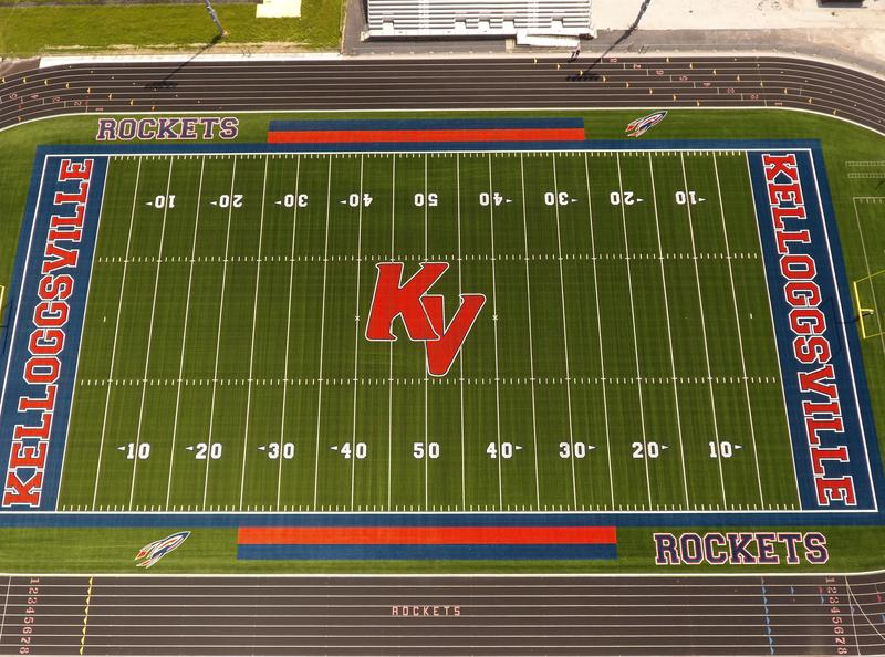 Football Field with turf