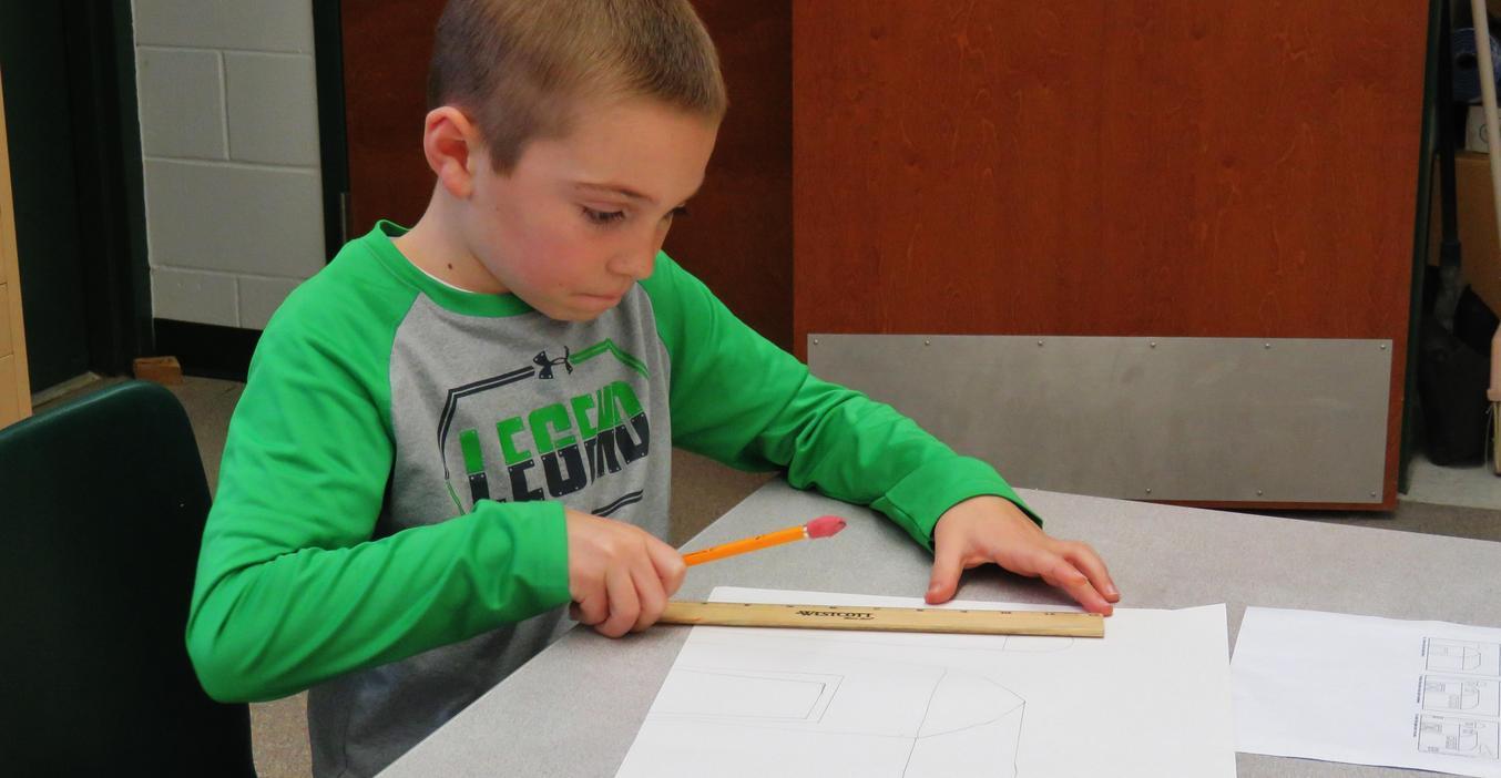 Lee art students work on drawing skills.