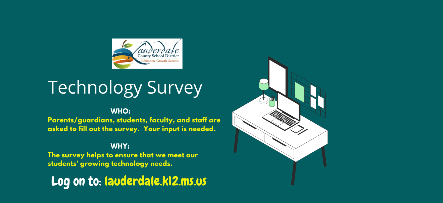 LCSD Technology Survey Graphic