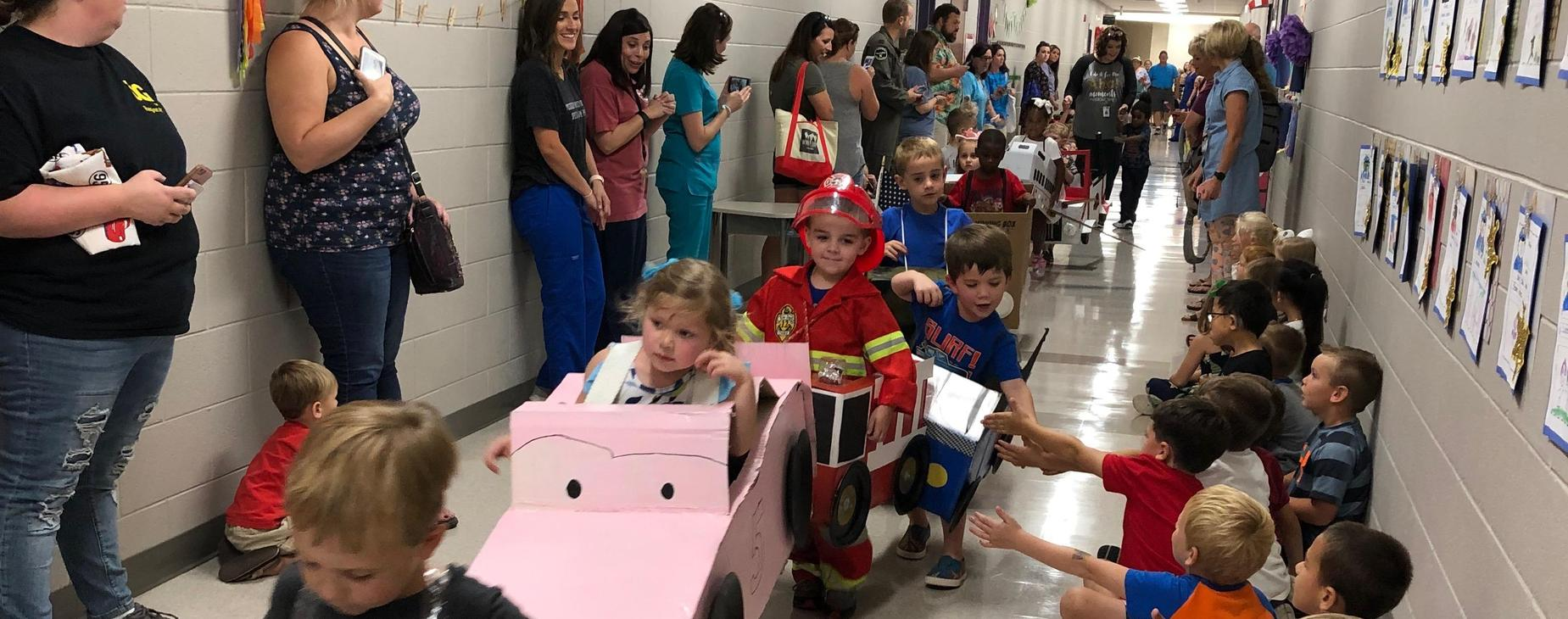 Kindergarten Car Parade Pics