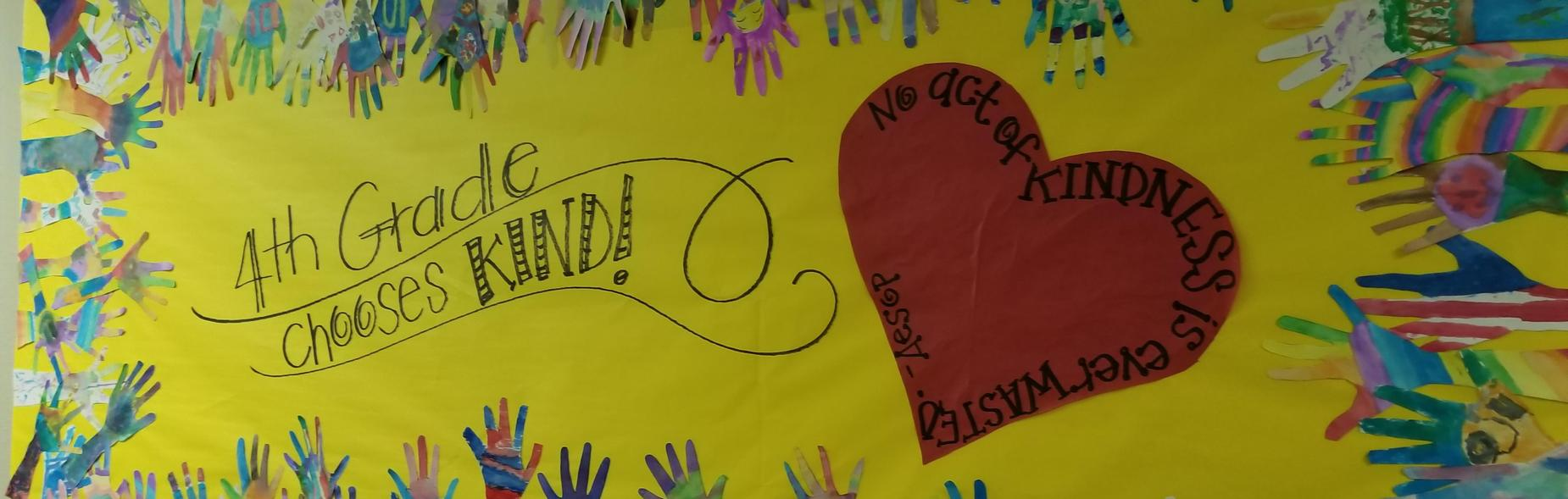 Banner with heart and hands