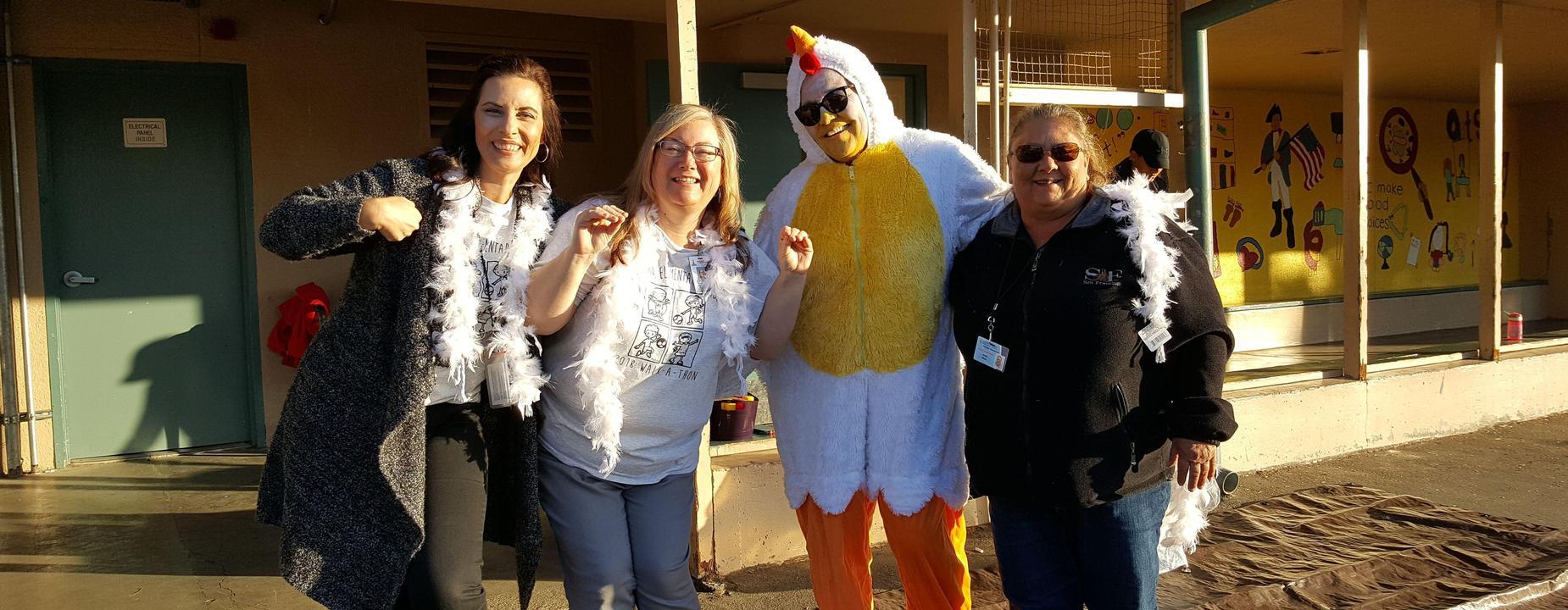 Staff showing their Proctor Pride!