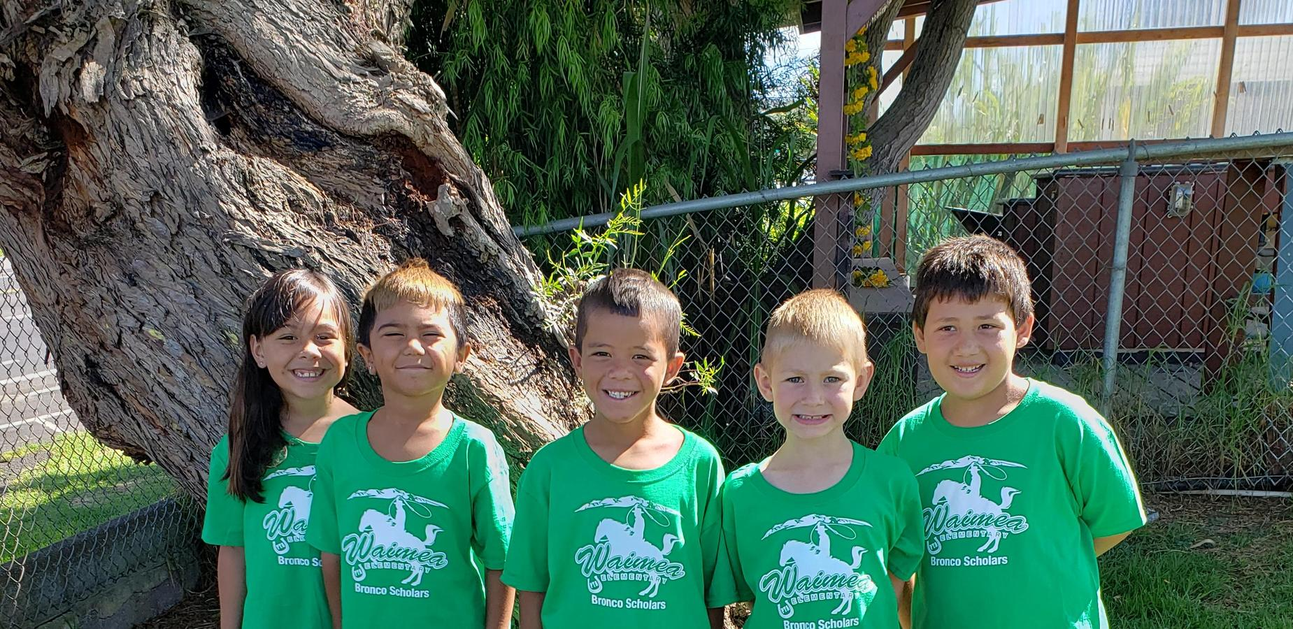 Students on green shirt day