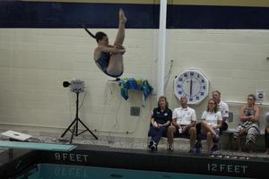 Abie Sullivan during a dive.