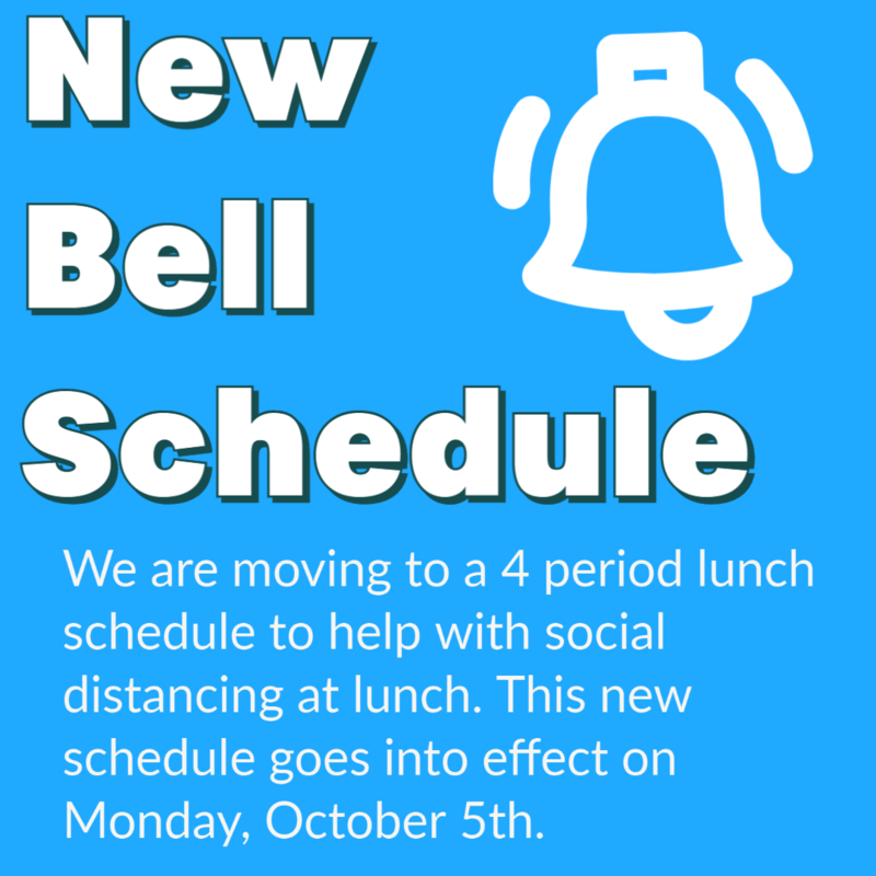 New Bell Schedule Oct. 5th