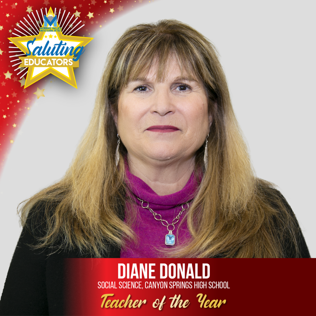 Diane Donald, Canyon Springs High, Teacher of the Year