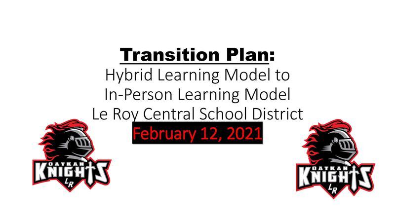 Le Roy CSD Transition Plan