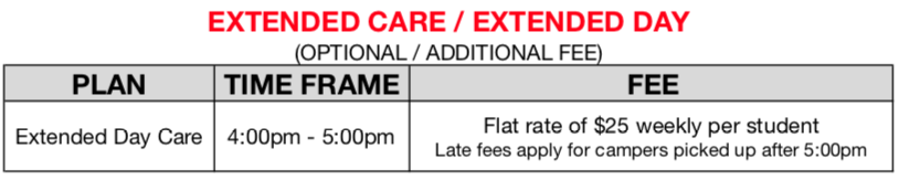 Extended Day Fees