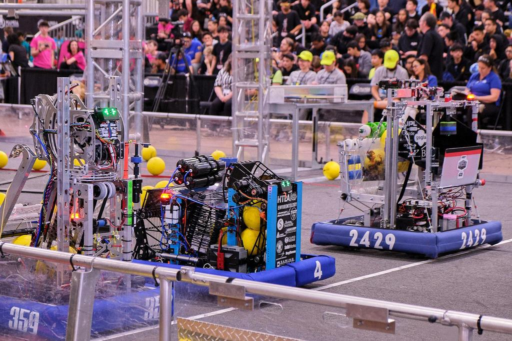 K8-G2 sitting next to Hall of Fame team 359 and LA North Chairman's Award winner 2429