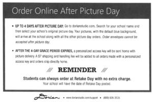 Retake and late orders