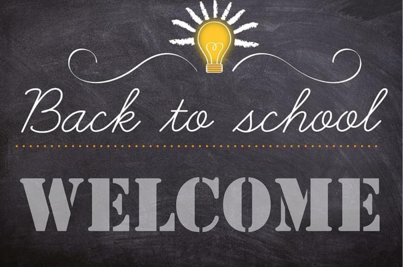 Chalkboard welcome back to school