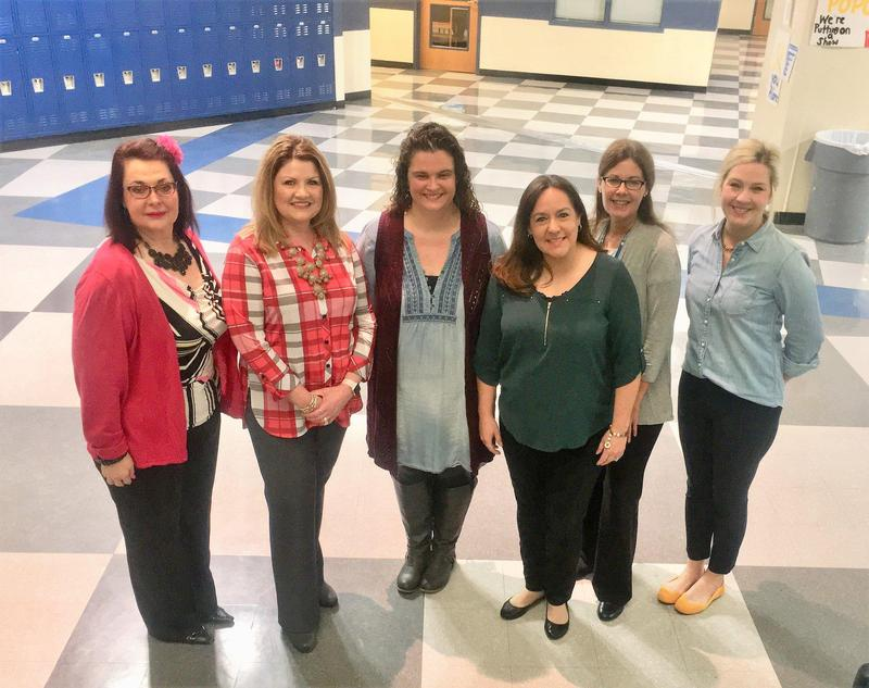 A pic of QISD school counselors Laurie Blair, Marlo Scott, Jeanette Rowland, Jenifer Hogan, Amy Learned and Jenifer Cheney during National School Counseling Week.