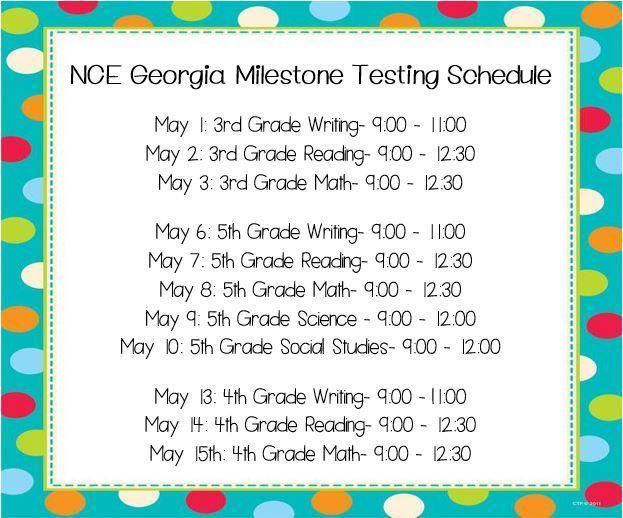 Georgia Milestones Testing Schedule