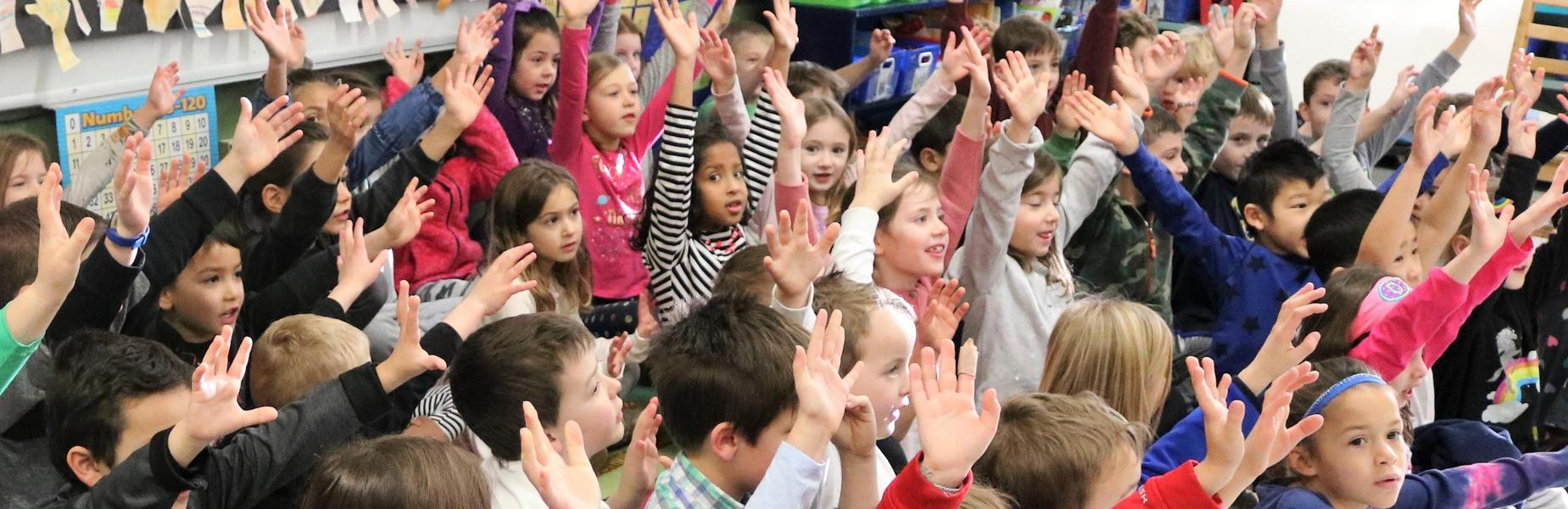 Tamaques 1st graders recite portions of the