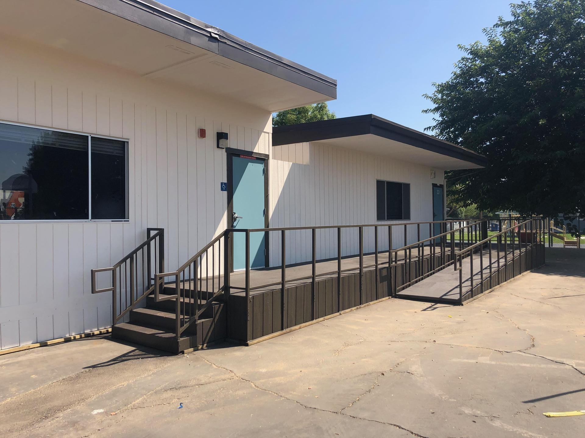New ramps on our portable classroom