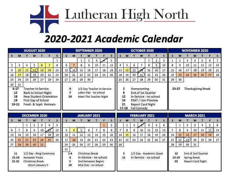 2020-21 Academic Calendar Now Available! Thumbnail Image