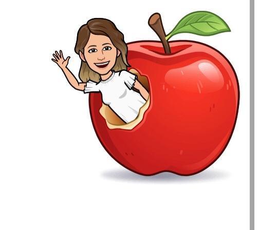 teacher and a apple