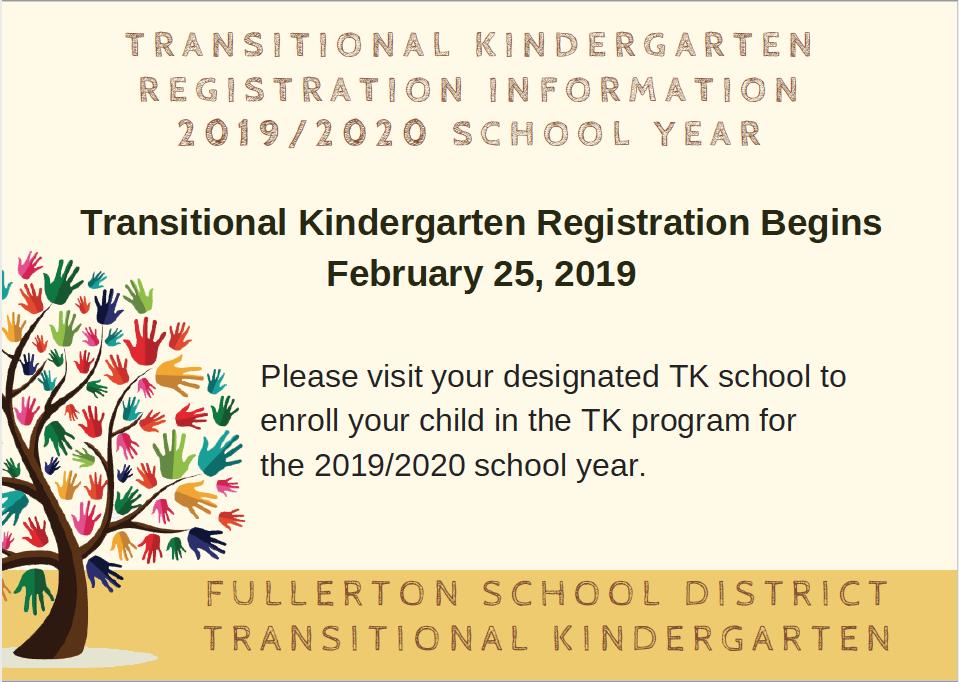 TK Registration Begins February 25, 2019