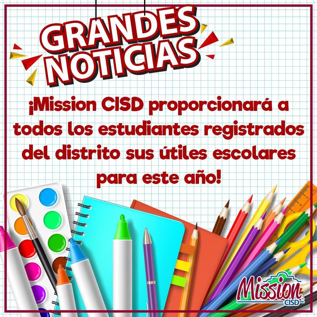 Spanish version of free school supplies