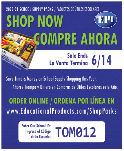 Flyer for School Supplies