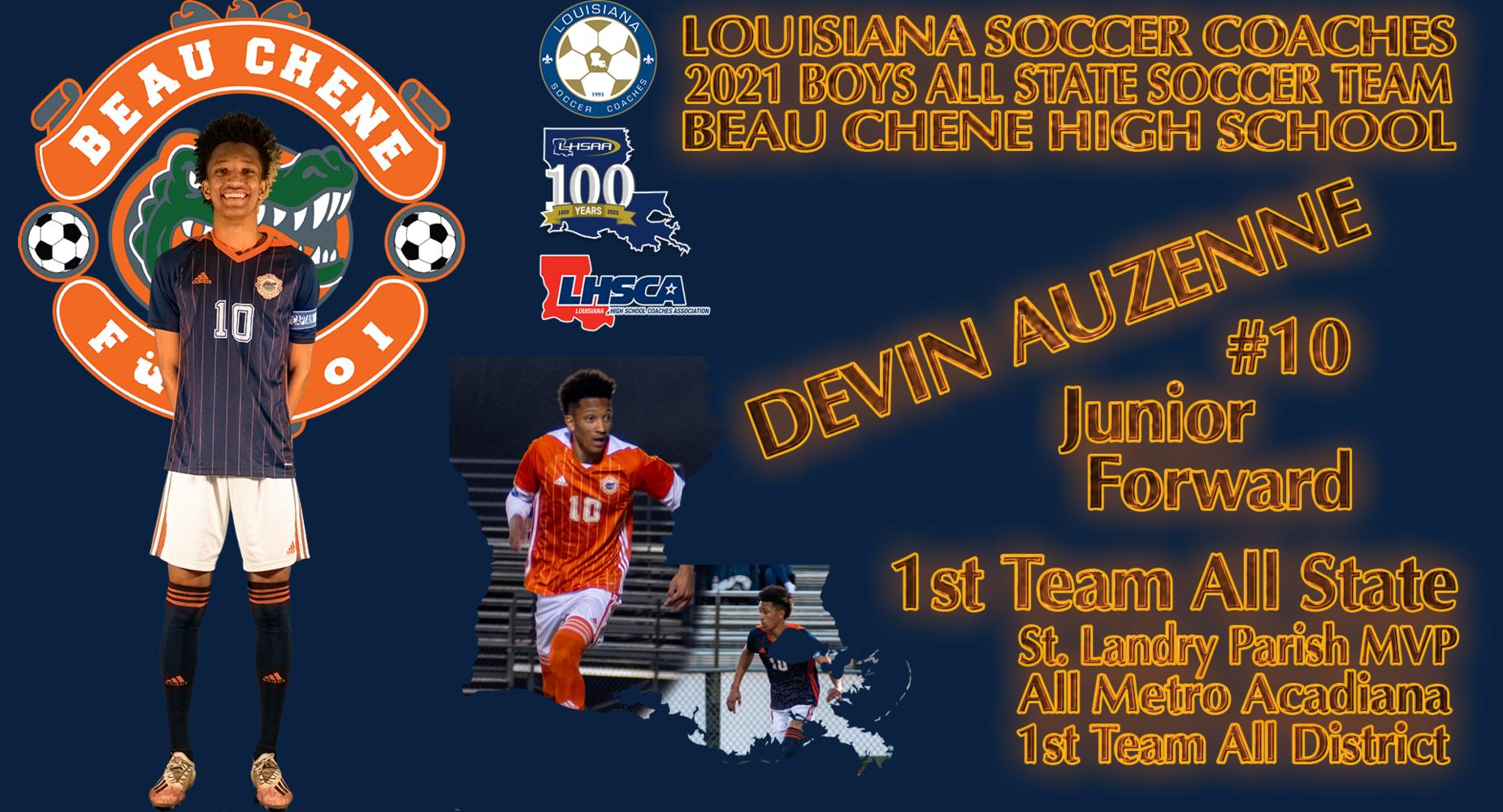 LHSSA - Devin Auzenne - Boys All State Soccer Team