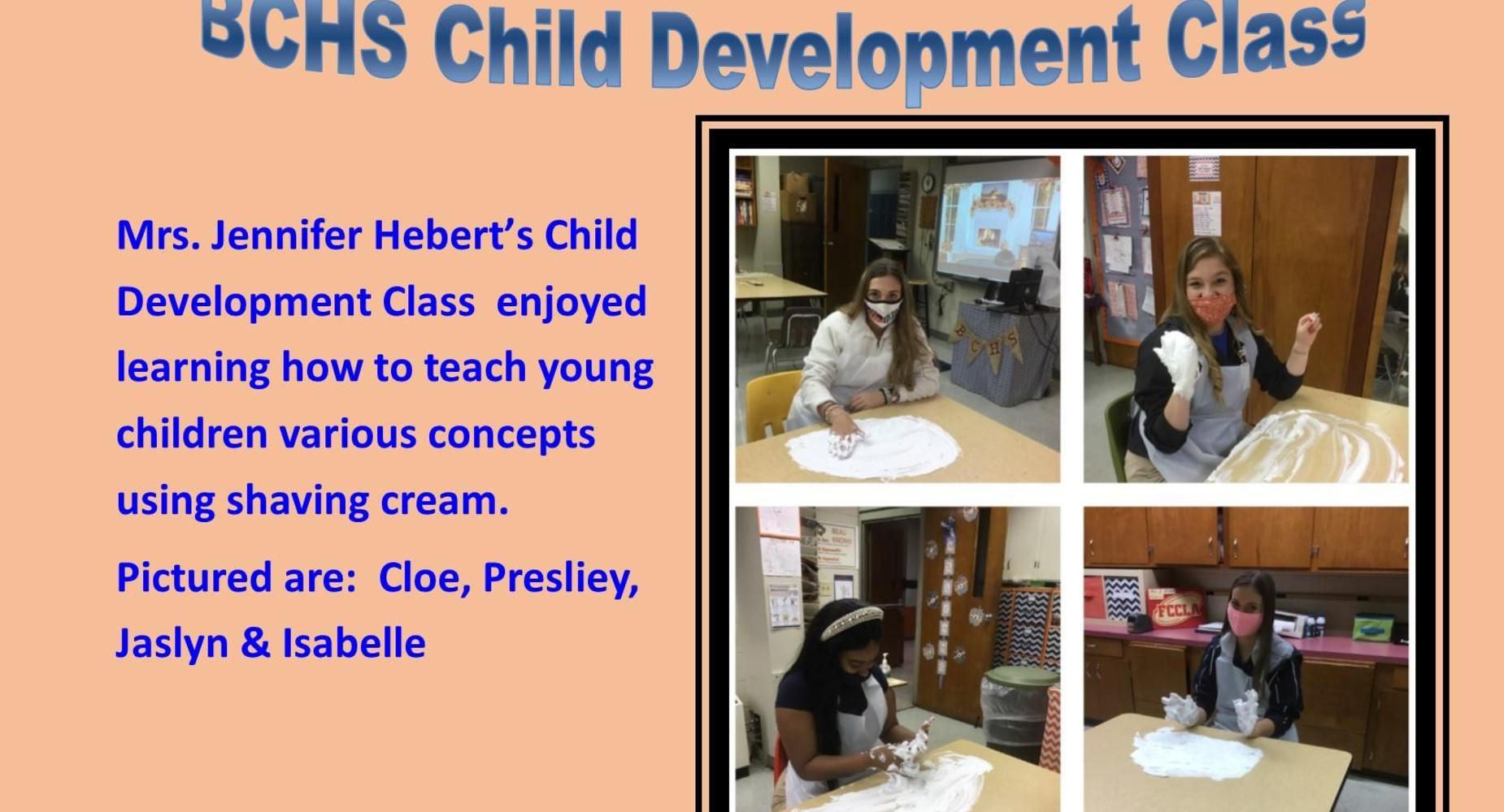 Mrs. J. Hebert class makes shaving cream.